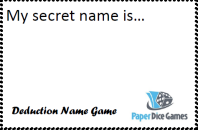 Deduction Name Game